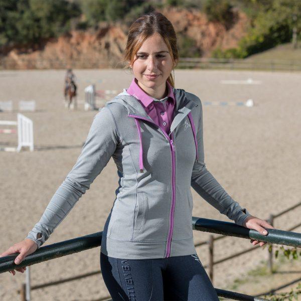 Le Mieux Hoodie Activewear Grey Lavender